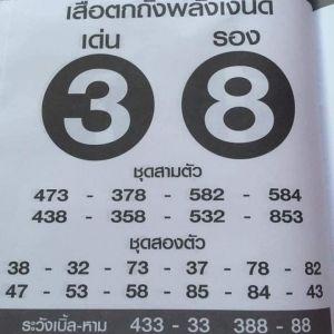 หวยเด็ด เสือตกถังพลังเงินดี 16/11/62