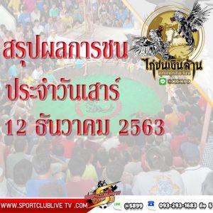 สรุปผลการชนของแต่ละสนามประจำวันเสาร์ที่ 12 ธันวาคม 2563